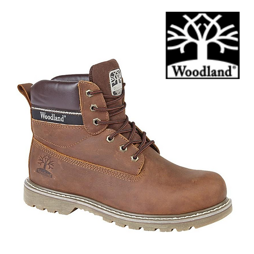 WOODLAND Brown Crazy Horse Leather Utility Boot  M905B