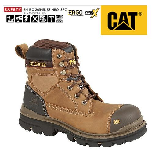 CAT Gravel S3 Dark Beige Oily Leather Safety Boots CT015N