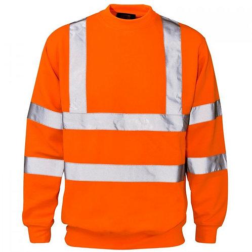 Supertouch Hi Vis Orange Crew Neck Sweatshirt H67