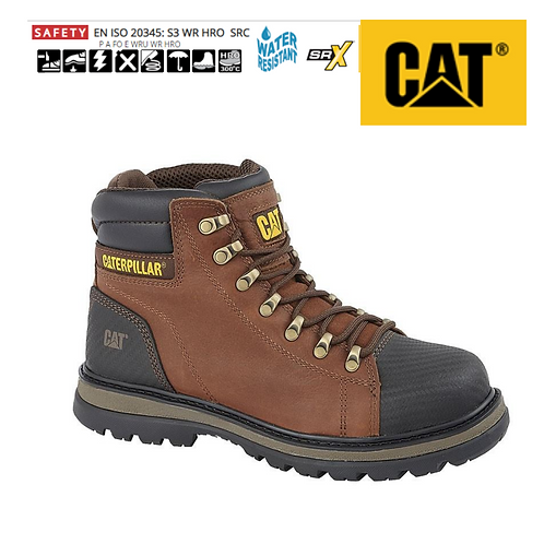 CAT Foxfield Brown Leather Safety Boot CT004B