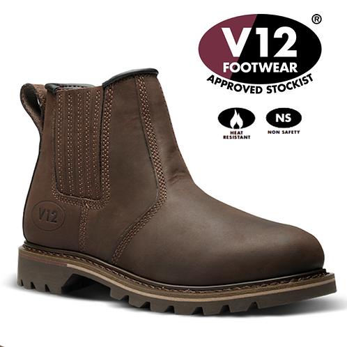 V12 Rancher Brown Non-Safety Dealer Boot V1261