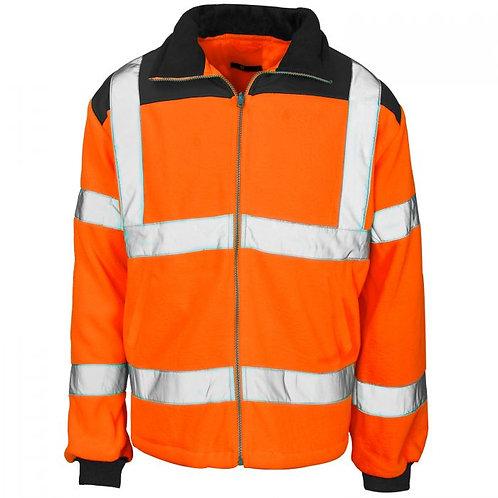 Supertouch Hi Vis 2 Tone Orange Rain Patch Fleece Jacket GO/RT 3279