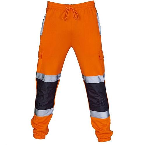 Supertouch Hi Vis Orange 2 Tone Jogging Bottoms H111