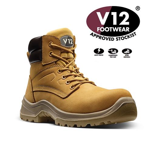 V12 Bobcat STS Honey S3 SRC Derby Boot V6420.01