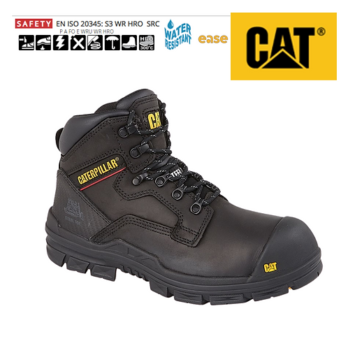 CAT Bearing Black Leather Safety Boot CT010A