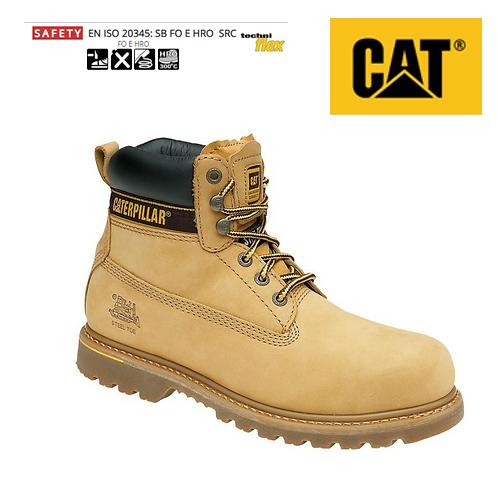 CAT Holton SB Honey Nubuck Safety Boot CT001N