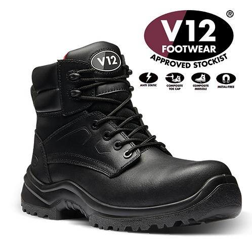 V12 Otter STS Black S3 SRC Derby Boot V6400.01