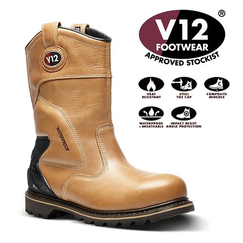 V12 Tomahawk Vintage Waterproof Rigger Boot V1250