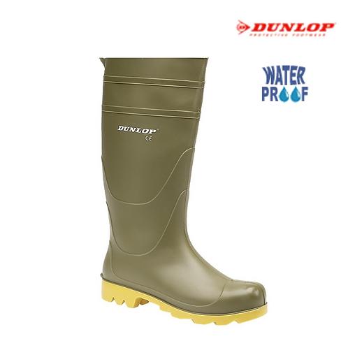 DUNLOP Universal 55320 Green PVC Wellington Boot W014E