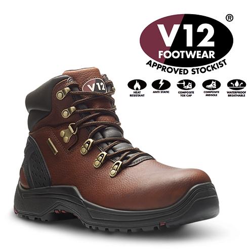 V12 Storm IGS Brown S3 Waterproof Hiker Safety Boot V1219.01