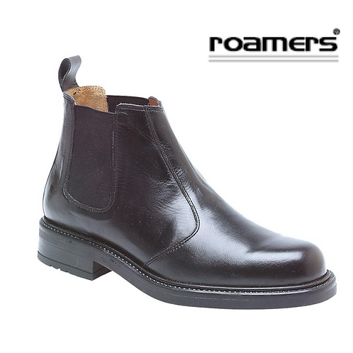 ROAMERS Black Leather Chelsea Boot M049A