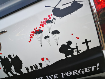 Lest We Forget Decals