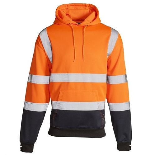 Supertouch Hi Vis Orange 2 Tone Hooded Sweatshirt  H112