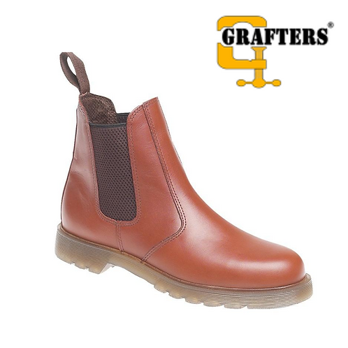 GRAFTERS Tan Leather Dealer Boot M573BT