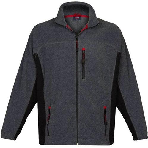 Espionage Bonded Rib Fleece Jacket Charcoal FLO29B