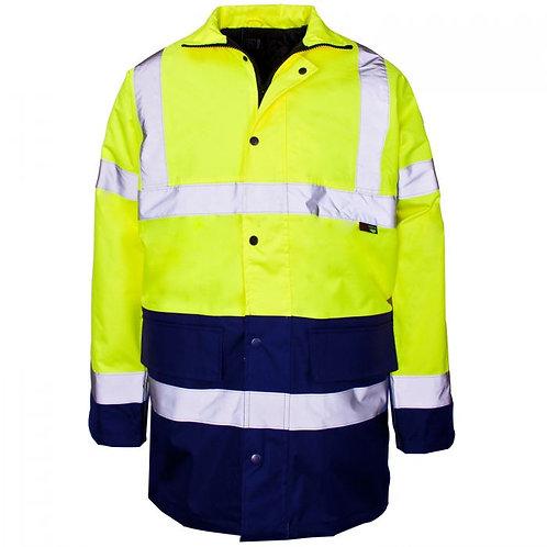 Supertouch Hi Vis Parka Jacket 2Tone Blue/Yellow C3