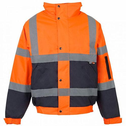 Supertouch Hi Vis Orange 2 Tone Bomber Jacket