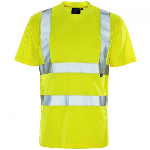 Supertouch Hi Vis Yellow Bird Eye T-Shirt H77