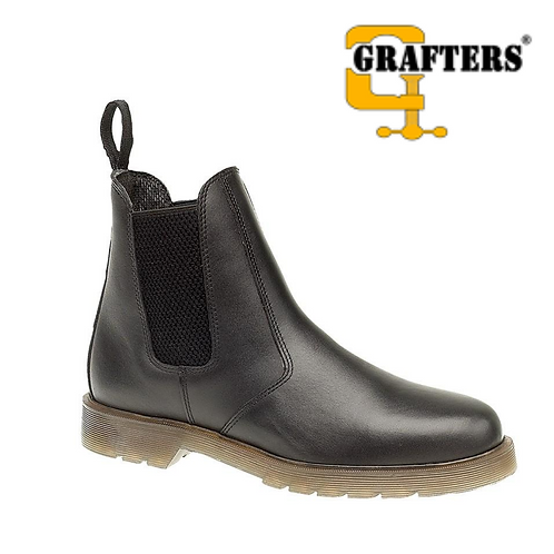 GRAFTERS Black Leather Dealer Boot M573A