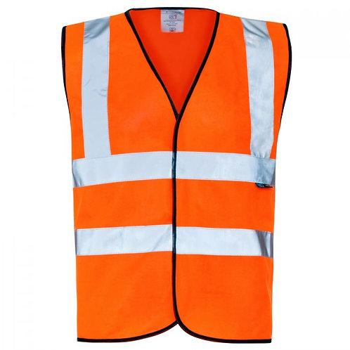 Supertouch Hi Vis Orange Velcro Vest H83