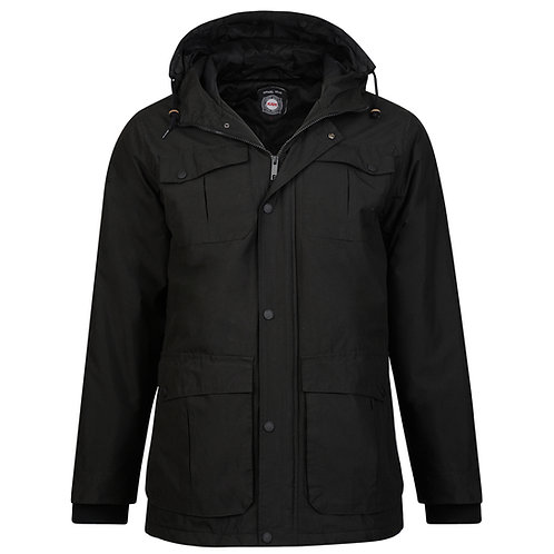 Padded Black Coat KBS KV81 By Kam Jeanswear - Up to 6XL