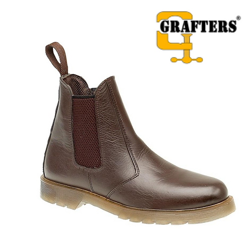GRAFTERS Dark Brown Leather Dealer Boot M573DB