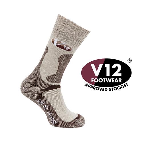 V12 Fawn Flecked Calf Length Sock 3 sizes M/L/XL VSOK4