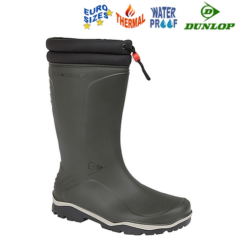 DUNLOP Blizzard K486061 Black Rubber Thermal Wellington Boot W004E