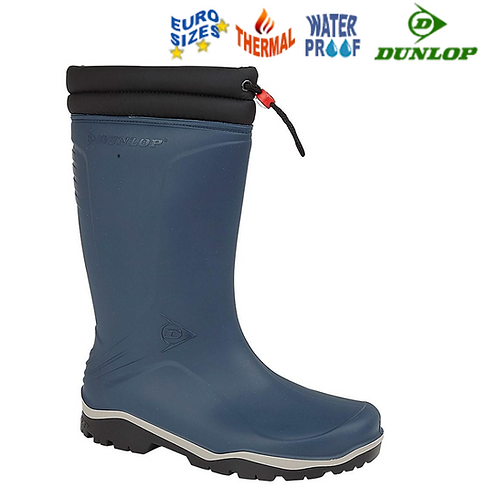 DUNLOP Blizzard K454061 Blue Rubber  Thermal Wellington Boot W004C