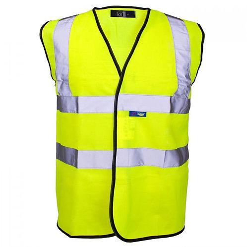 Supertouch Hi Vis Yellow Velcro Vest H82