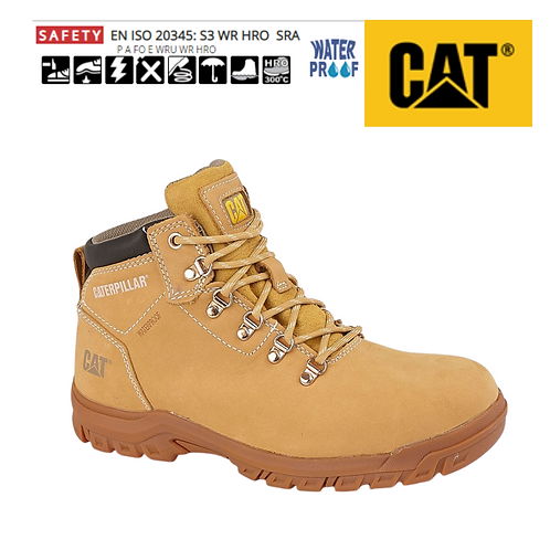CAT Mae Honey Full Grain Leather Womens Safety Boot CT012N