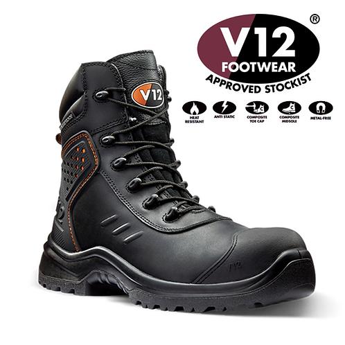 V12 Defender STS Black S3 AN WR SRC Waterproof Boot V1750