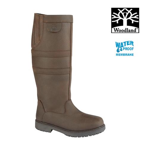 WOODLAND Hailey Dark Brown Waxy Leather  Waterproof Boot L295DB