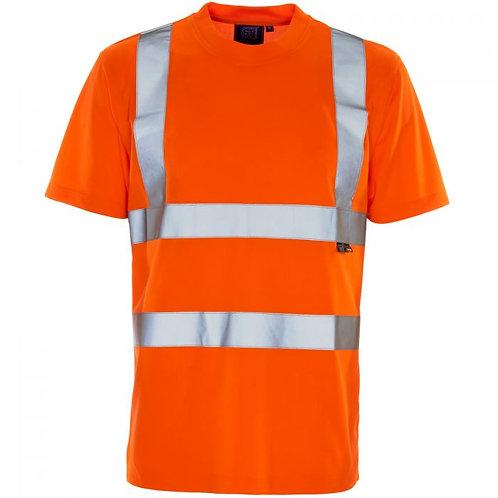 Supertouch Hi Vis Orange Bird Eye T-Shirt H78