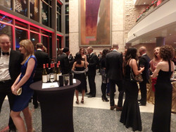 Guests mingling before dinner
