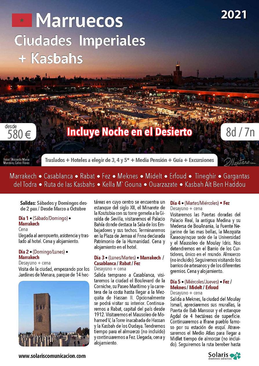Marruecos Ciudades Imperiales + Kasbahs_