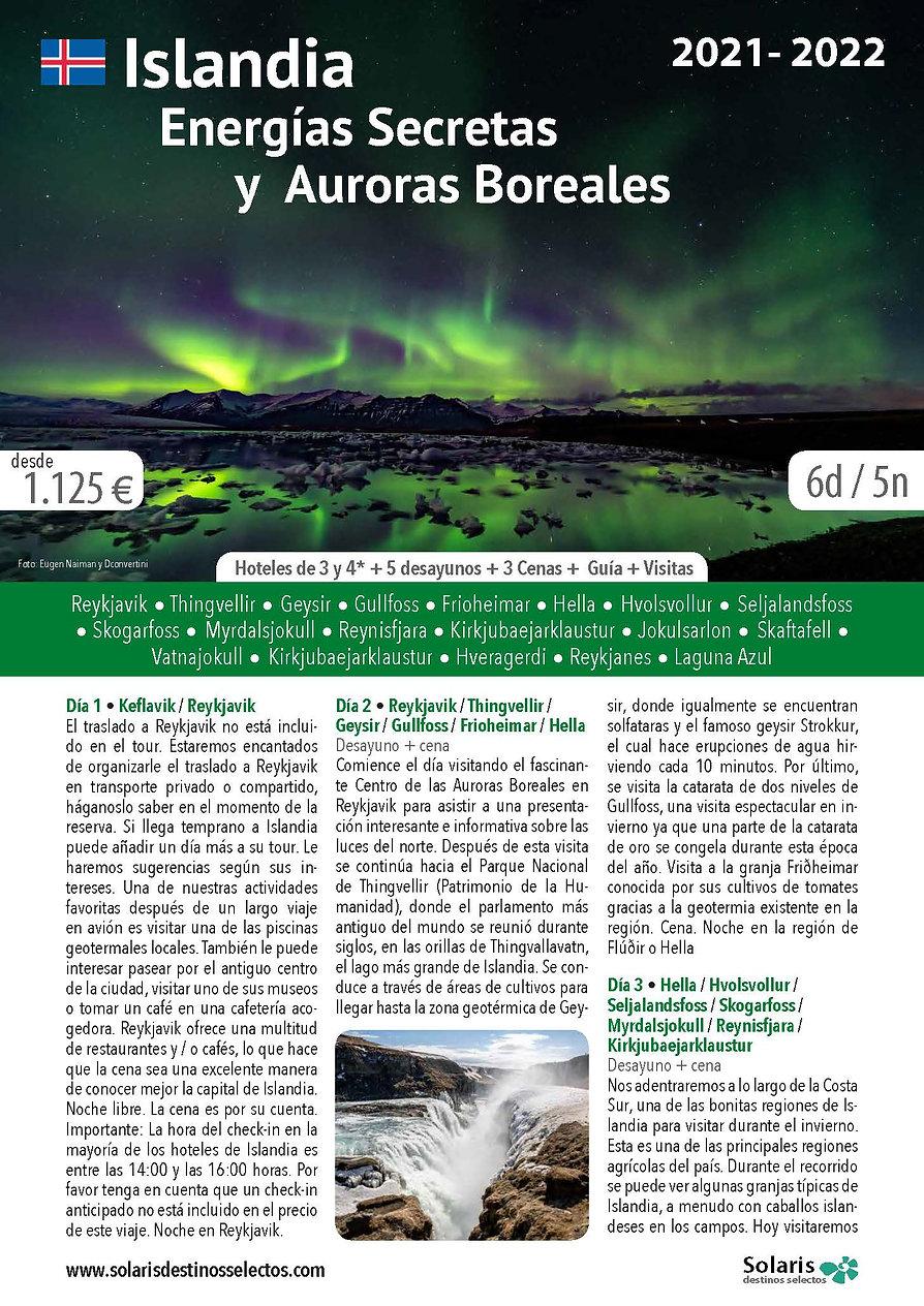 Islandia Energias Secretas y Auroras Bor