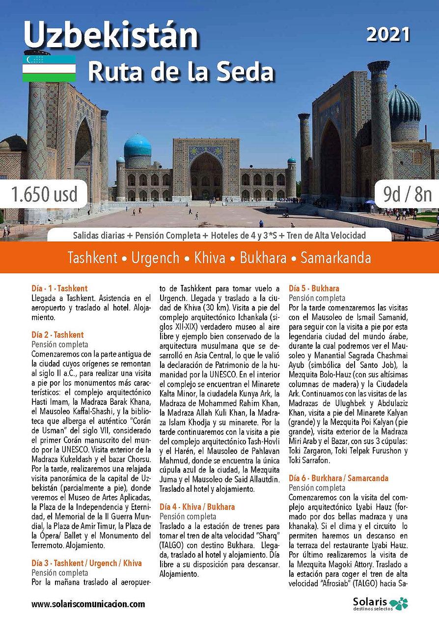 Uzbekistan - Ruta de la Seda 2021_Págin