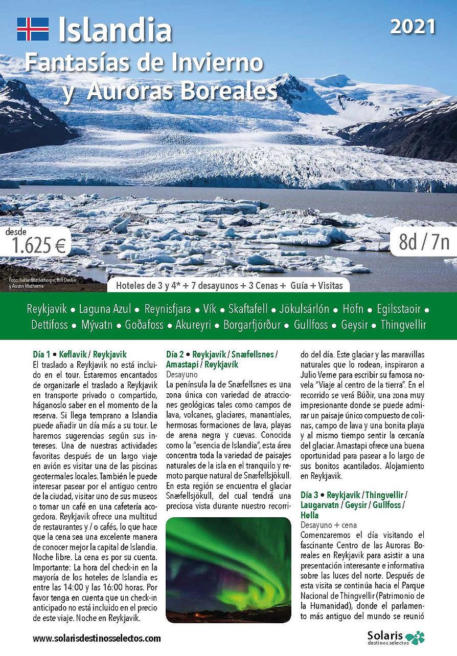Islandia Fantasias de Invierno y Auroras