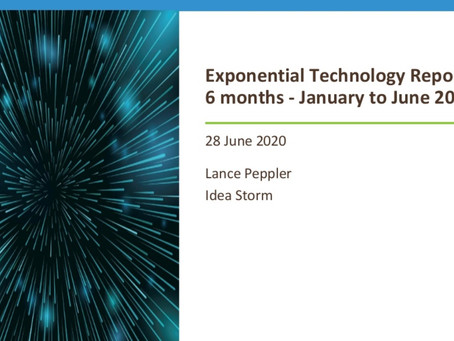 Exponential Technology advancements - January to June 2020