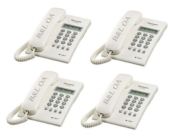 KX-T7703X (Pack 4) โทรศัพท์ Panasonic มีจอโชว์เบอร์  Analog Phone (Caller ID)
