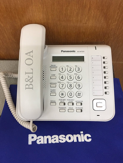 KX-NT551X  Panasonic IP Phone,GB,8 Keypads, LCD,PoE