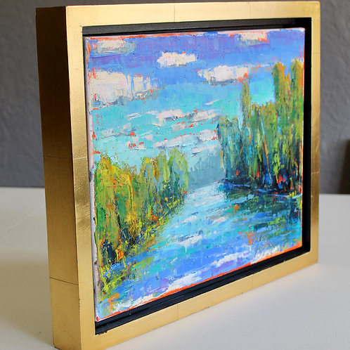 11x14 oil pallet knife painting