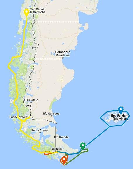 Navigation Patagonie