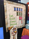 Sandra's Quilt at Quilt Festival Booth