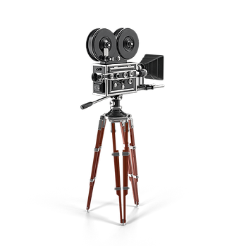 old-fashioned movie camera