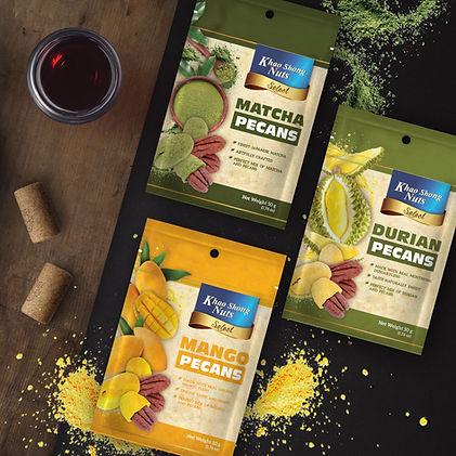 Khao Shong Nuts Pecans Packaging by Pegasus Brand Design