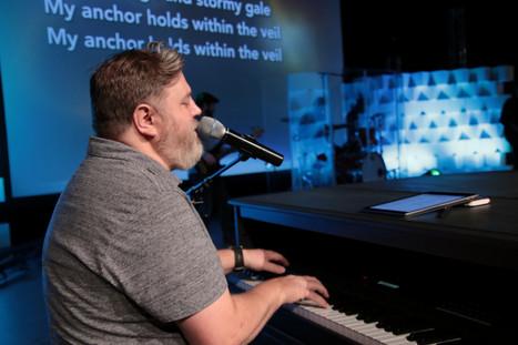 Matt playing keyboard