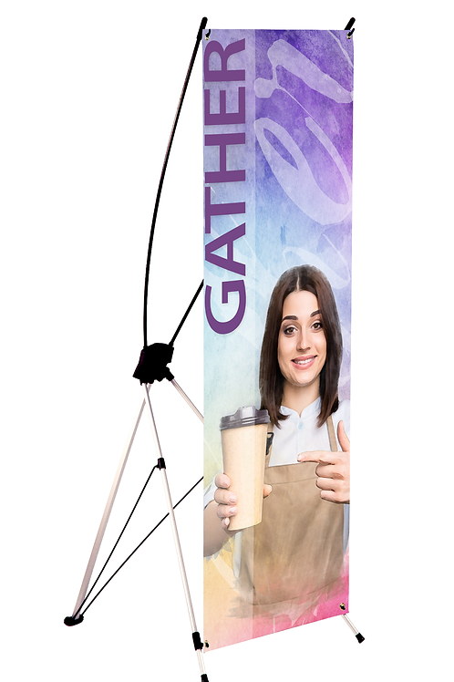 """Spider or X-Style Banner - 24"""" x 60"""""""