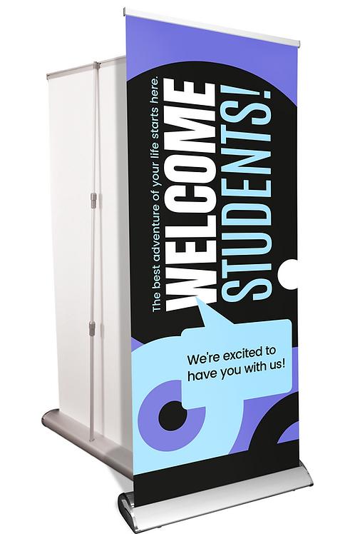"STUDENT WELCOME - Deluxe Pop-up Display - 33"" x 80"""